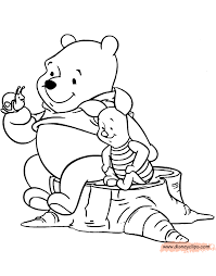 winnie pooh u0026 friends coloring pages 5 disney coloring book