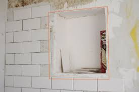 diy renovation project how to build a recessed shower shelf