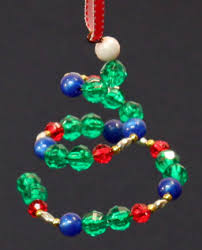 funezcrafts easy crafts spiral beaded ornament