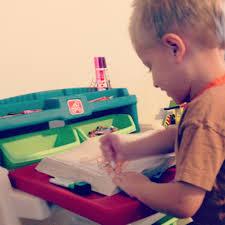 Step 2 Desk Easel Step2 Flip U0026 Doodle Easel Desk With Stool Giveaway Go Grow Go