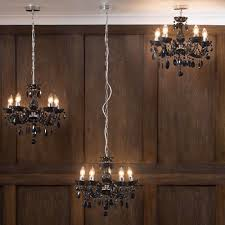 Marie Chandelier Marie Therese Chandelier 5 Light Dual Mount Black From Litecraft