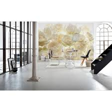 komar abstract white brick wall mural 8 881 the home depot h ivory rose wall mural