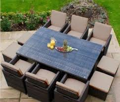 replacement 16pc cushion set for 10 seater rattan garden furniture