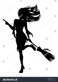 broom witch costume halloween witch stock vector 499117837