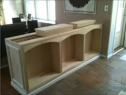 double sided built in half wall bookcase mitre contracting inc