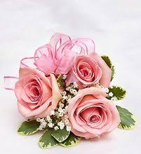 pink corsage pink prom corsage pink homecoming