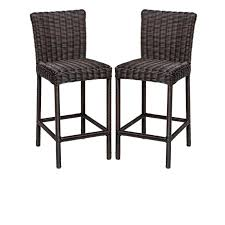 Patio Furniture Pub Table Sets - tk classics venice pub table set with barstools 5 piece outdoor