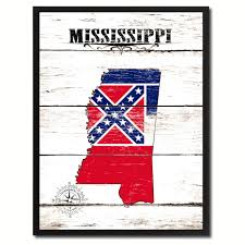 Missippi State Flag Mississippi State Home Decor Office Wall Art Decoration Bedroom