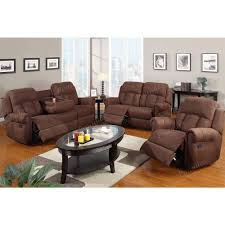 3 Seat Recliner Sofa by Recliner Sofa W Cup Holders Chocolate Microfibe 3 Seater Only