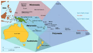 map of australia and oceania countries and capitals oceania