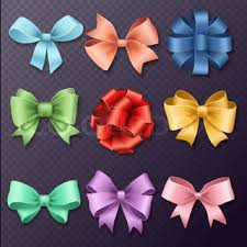 christmas gift bows ribbons set for christmas gifts gift bows with ribbons vector