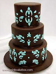 brown cake brown and turquoise engagement cake celebration cakes