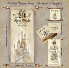 Diy Scroll Invitations Wedding And Special Event Invitations Custom Event Scrolls And