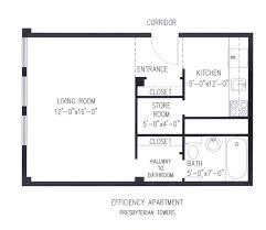Efficiency Apartment Floor Plans Presbyterian Towers Inc Floor Plans Phhf