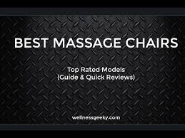 best massage chair reviews 2017 field tested oct 2017