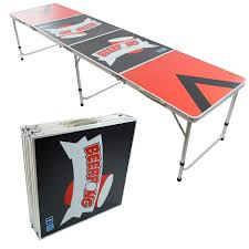fold up beer pong table beer pong aluminum folding table w handle 8 bp 05 easy source inc