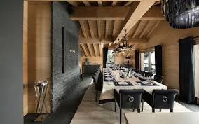 inspiring modern chalet interior design from french alps elegant dining room as part of inspiring modern chalet interior