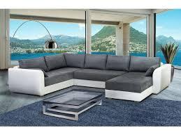 canapé gris et blanc pas cher canapé d angle droit fixe 8 places coloris gris blanc prix