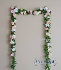 wedding backdrop garland wedding garland wedding decor garland pink garland