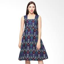 Batik Anakara anakara livina square neckline dress batik dwia fashion