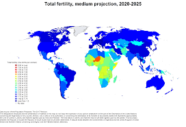 World Map 1950 World Population Prospects Population Division United Nations