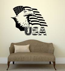 United States Map Art by Aliexpress Com Buy Usa Flag Map Wall Sticker United States Of