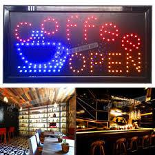 shop open sign lights flashing led coffee bar open sign light pub beer bottle neon store