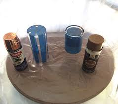 Dollar Store Cylinder Vases Spray Painting A Dollar Store Vase Hometalk