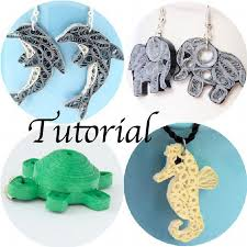 quilling earrings tutorial pdf free download tutorial for paper quilled animal jewelry honeysquilling