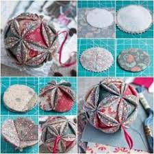 оригами из ткани fabric ornaments ornament and tutorials