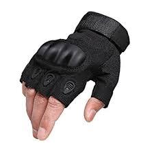 Mens Gloves Half Finger Fingerless Anti Slip Breathable Army