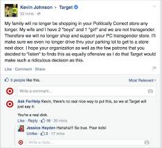 black friday target meme commercial man poses as target on facebook trolls haters of its gender