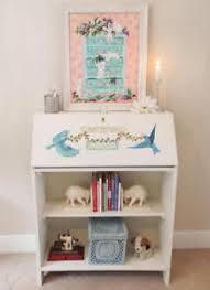 bureau ebay antique painted bureau bookcase painted desk bluebirds
