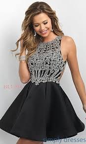 klshort black dresses open back intrigue by blush party dress