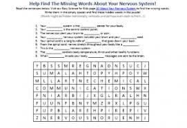 nerves free printable easy science worksheet hidden words game