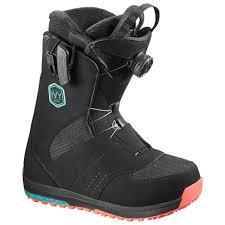 womens snowboard boots australia salomon boa sj black teal black womens snowboard boots