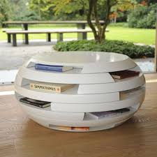 Modern White Coffee Table Modern Gloss Spherical White Coffee Table With Small Shelves