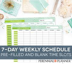 printable hourly planner 2016 weekly schedule printable 7 days customizable daily times