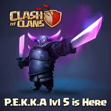 clash of clans hd wallpapers clash of clans chief take shelter p e k k a level 5 is