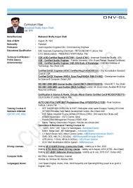 Qa Qc Engineer Resume Sample by Cv Shafiq