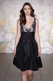 bridesmaid dresses black taffeta strapless silver draped v