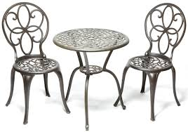 Aluminium Bistro Table And Chairs Lovable White Metal Bistro Table Bistro Set The Garden And Patio