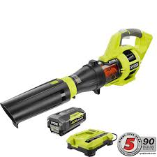 ryobi fan and battery ryobi 110 mph 480 cfm variable speed 40 volt lithium ion cordless