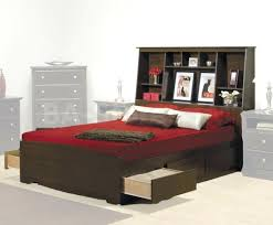 furniture home bookcase headboard king bedroom set open shelves