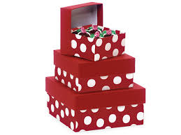 polka dot gift boxes polka dot nested boxes small 3 square gift boxes nb3spdr