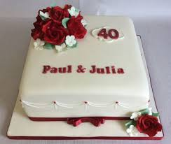 ruby wedding cakes wedding anniversary cakes reading berkshire south oxfordshire uk