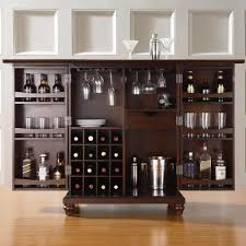 solid wood bar cabinet with rosewood bookcase liquor wine storage