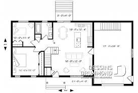 plan plain pied 2 chambres plan de plain pied et 1 étage avec garage dessins drummond