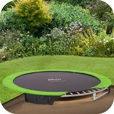 8ft in ground trampoline 3 foam pit for fun pinterest ground