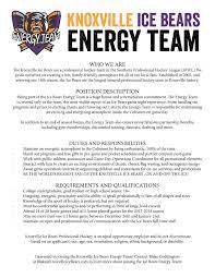knoxville ice bears internships